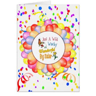 Wild Wacky Wonderful Big Sister Gifts Card