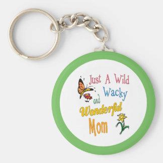 Wild Wacky Wonderful Mom Gifts Key Ring