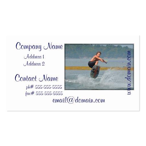Wild Wakeboarder Business Card
