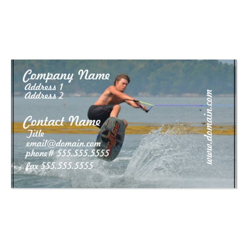 Wild Wakeboarder Business Card Templates