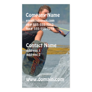 Wild Wakeboarder Pack Of Standard Business Cards