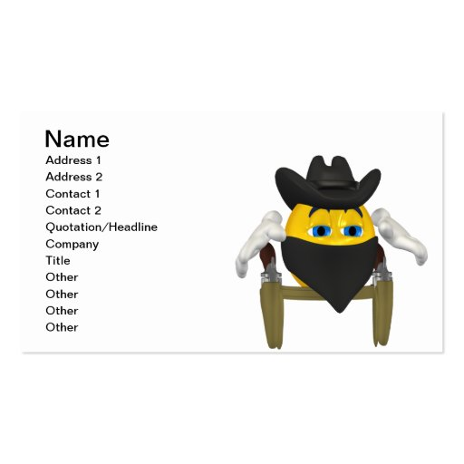 Wild West Business Card