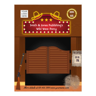 Wild West Corporate Function add photo and logo Flyer