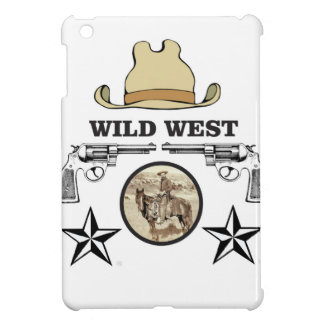 wild west cowboy art iPad mini covers