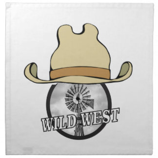 wild west cowboy art napkin