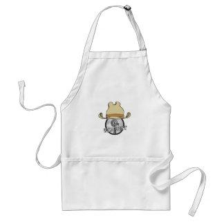 wild west cowboy art standard apron