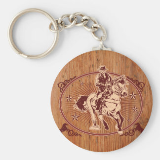 Wild West Cowboy Country rodeo Western Key Ring