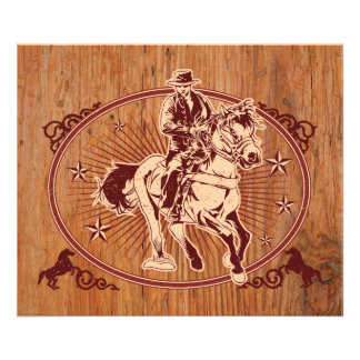Wild West Cowboy Country rodeo Western Photo Print