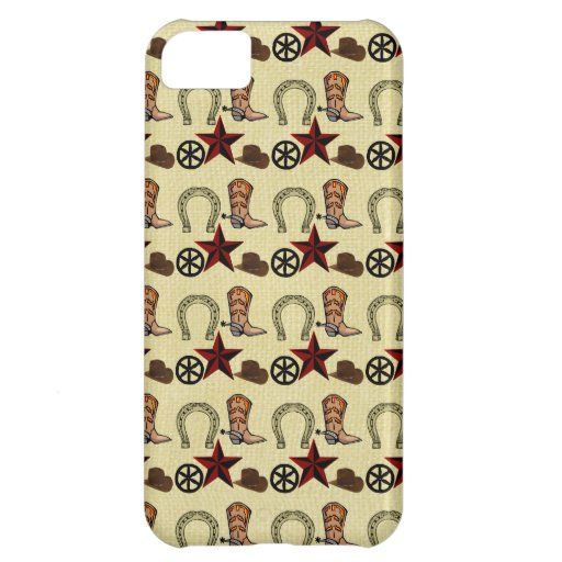 Wild West Cowboy Country Western on Burlap Print iPhone 5C Cover