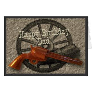 Wild West ~ Happy Birthday Dad Greeting Cards