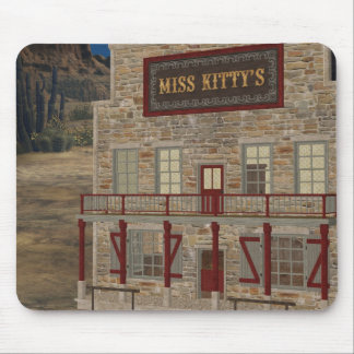 Wild West Miss Kitty's Place Mousepad