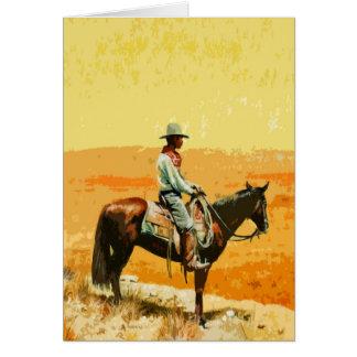 Wild West Pop Art Greetings Card