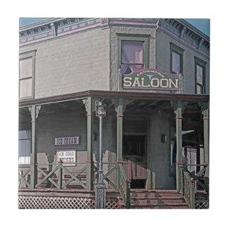 Wild West Saloon Ceramic Tile
