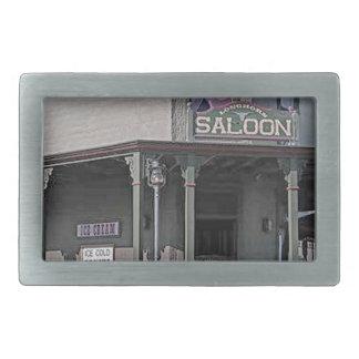 Wild West Saloon Rectangular Belt Buckles