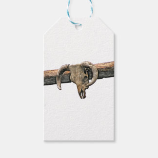 Wild West Skull Gift Tags