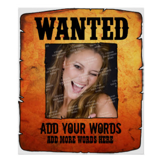 Wild West Wanted Poster (Personalised)