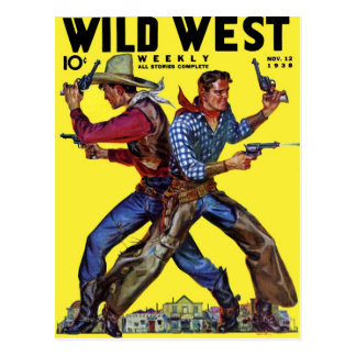 Wild West Weekly Nov. 1938  Postcard