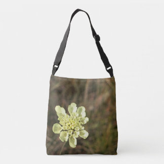 Wild White Flower - Crossbody Bag