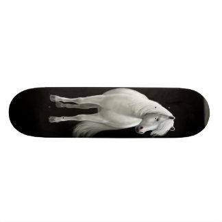 Wild White Mustang Skateboard