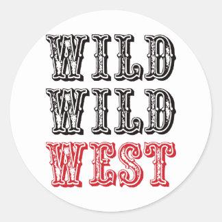 Wild Wild West - Red Sticker
