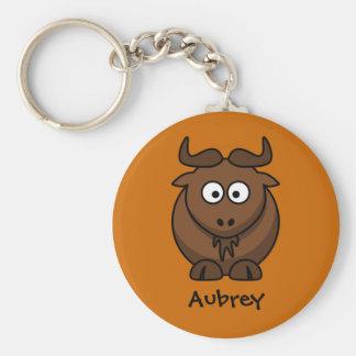 Wild wildebeest key ring