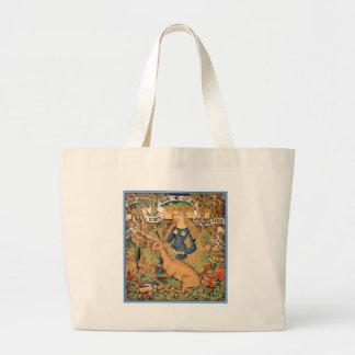 """Wild Woman With Unicorn"" Large Tote Bag"