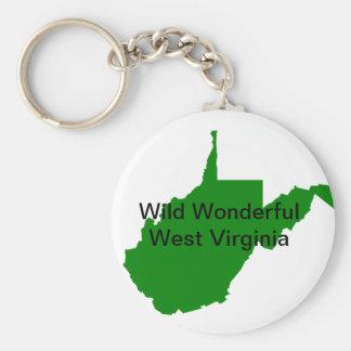 Wild Wonderful West Virginia Key Ring