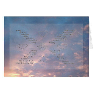 Wild Words Sunset Sky Photo Word Art Greeting Card