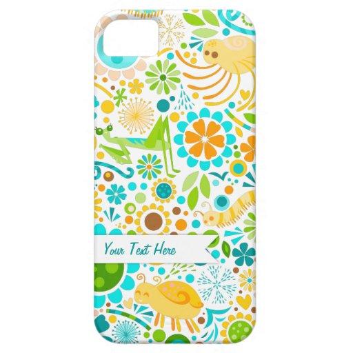 Wild World - Cute Bugs - Custom iPhone Case iPhone 5 Case