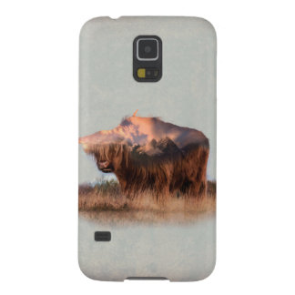 Wild yak - Yak nepal - double exposure art - ox Case For Galaxy S5