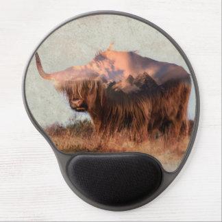 Wild yak - Yak nepal - double exposure art - ox Gel Mouse Pad