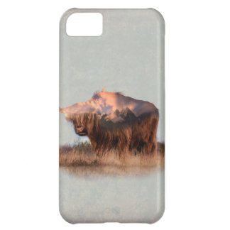 Wild yak - Yak nepal - double exposure art - ox iPhone 5C Case