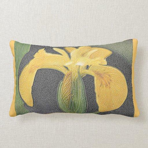 Wild Yellow Iris. Pillow
