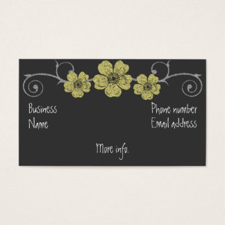 Wild Yellow Roses Chalkboard Business Card