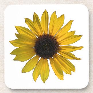 Wild Yellow Sunflower Beverage Coaster
