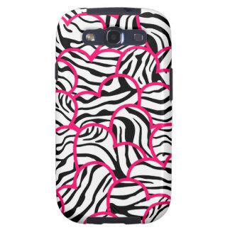 Wild zebra hearts BlackBerry Samsung Galaxy Case Samsung Galaxy S3 Covers