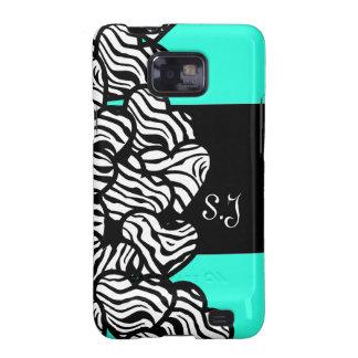 Wild zebra hearts BlackBerry Samsung Galaxy Case Samsung Galaxy S2 Case