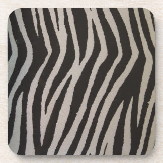 Wild Zebra Print Beverage Coasters