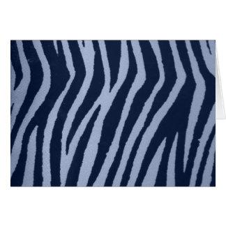 Wild Zebra Print Denim Cards