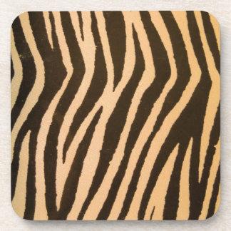 Wild Zebra Print Peach Coasters