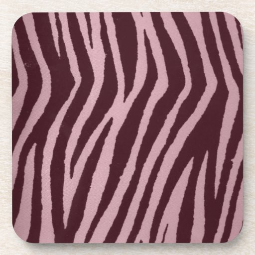 Wild Zebra Print Pink Drink Coaster