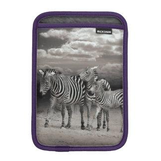 Wild Zebra Socialising in Africa Sleeve For iPad Mini