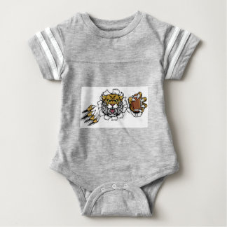 Wildcat American Football Mascot Baby Bodysuit