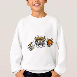 Wildcat Basketball Ball Mascot Sweatshirt