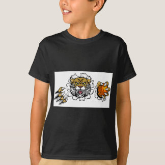 Wildcat Basketball Ball Mascot T-Shirt