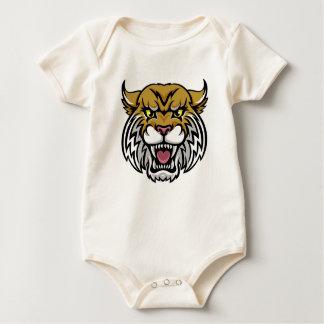 Wildcat Bobcat Mascot Baby Bodysuit