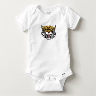 Wildcat Bobcat Mascot Baby Onesie