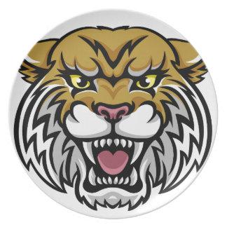 Wildcat Bobcat Mascot Plate