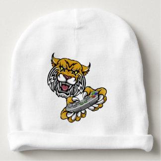 Wildcat Bobcat Player Gamer Mascot Baby Beanie