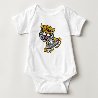 Wildcat Bobcat Player Gamer Mascot Baby Bodysuit